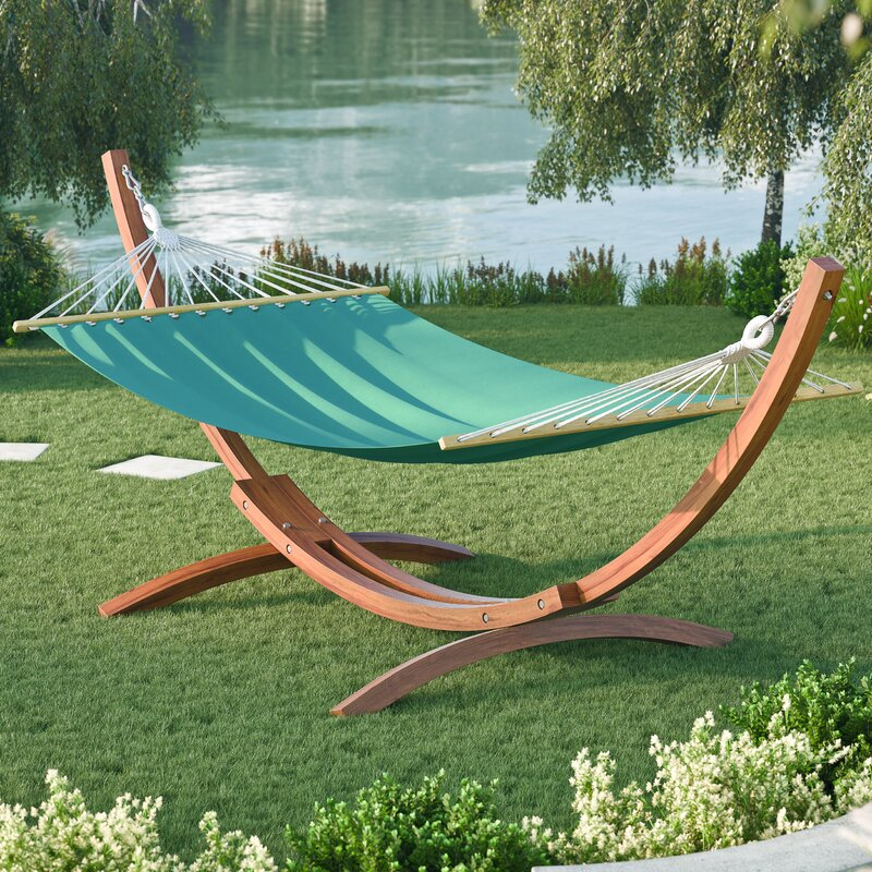 Grissom Free Standing Cotton Patio Hammock with Stand. Hammocks with Stands You ll Love   Wayfair