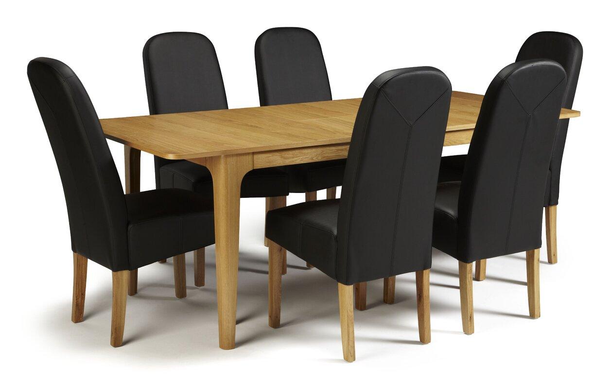 marlow home co essgruppe daughtrey mit 6 st hlen bewertungen. Black Bedroom Furniture Sets. Home Design Ideas