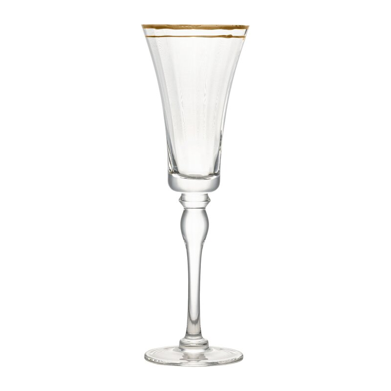 Charlton Home Tayler Rim Glass 12 Oz Champagne Flute Wayfair