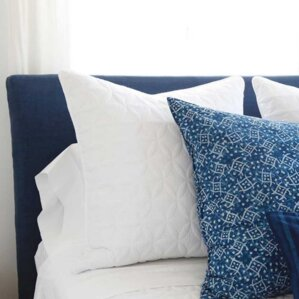 Double Stitched Short Headboard Slipcover by Pom Pom At Home