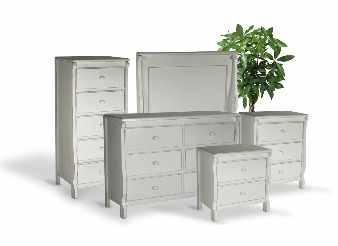 Three Posts Leishman High Quality All Wood 5 Piece Bedroom