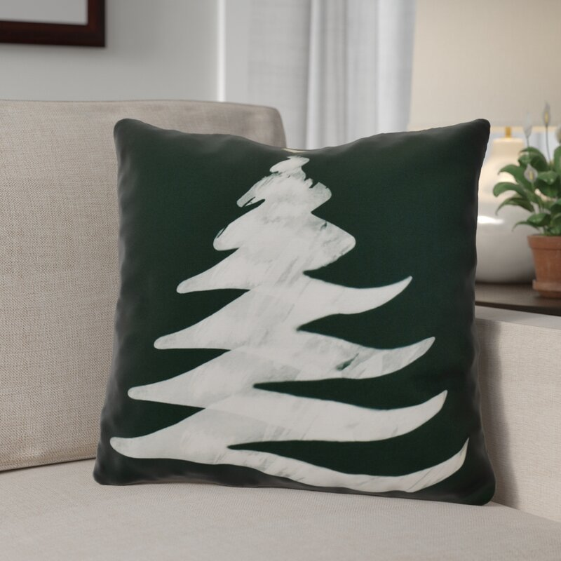 The Holiday Aisle Decorative Christmas Tree Print Outdoor Throw Extraordinary Outdoor Decorative Christmas Pillows