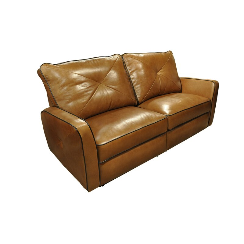 Bahama Leather Reclining Sofa