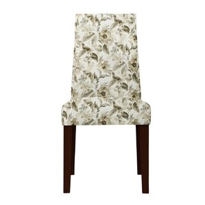Haddonfield Green/Beige Parsons Chair (Set of 2) by Latitude Run