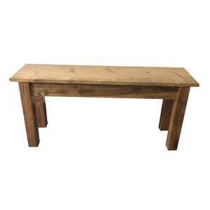 Morro Farmhouse Wood Bench by Loon Peak