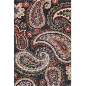 Hamilton Black/Red Area Rug