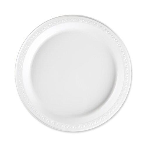 Reusable/Disposable Plastic Plates White  sc 1 st  Wayfair & Genuine Joe Reusable/Disposable Plastic Plates White \u0026 Reviews ...