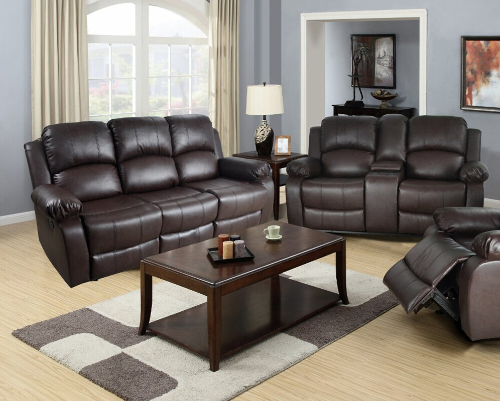 Red Barrel Studio Mayday 2 Piece Leather Living Room Set & Reviews ...