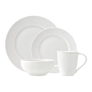 Pique 16 Piece Dinnerware Set, Service for 4