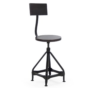 Evolution Adjustable Height Swivel Bar Stool by Zentique Inc.