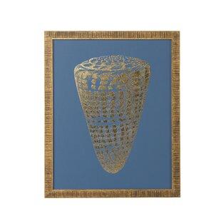 u0027Foil Shell Iu0027 Framed Graphic Art Print. by Chelsea House  sc 1 st  Wayfair & Chelsea House Coastal Wall Art Youu0027ll Love   Wayfair