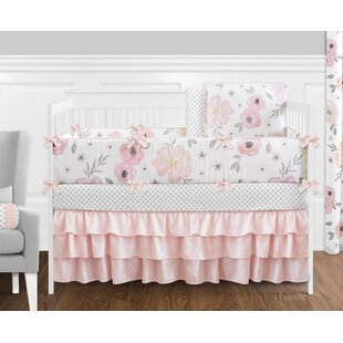 Nature floral crib bedding sets youll love wayfair watercolor floral 9 piece crib bedding set mightylinksfo