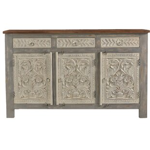 Baney Carved 3 Drawer 3 Door Sideboard