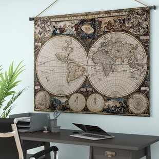 Old World Map Canvas.Old World Map Canvas Wayfair