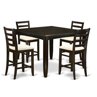 Krull 5 Piece Counter Height Dining Set