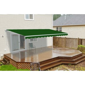 10 ft. W x 8 ft. D Retractable Patio Awning