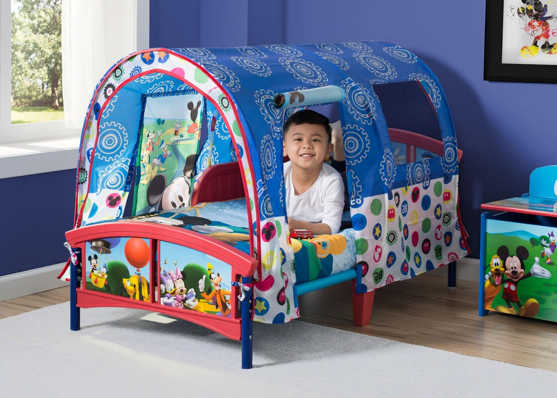 delta children disney mickey mouse toddler tent bed reviews wayfair. Black Bedroom Furniture Sets. Home Design Ideas