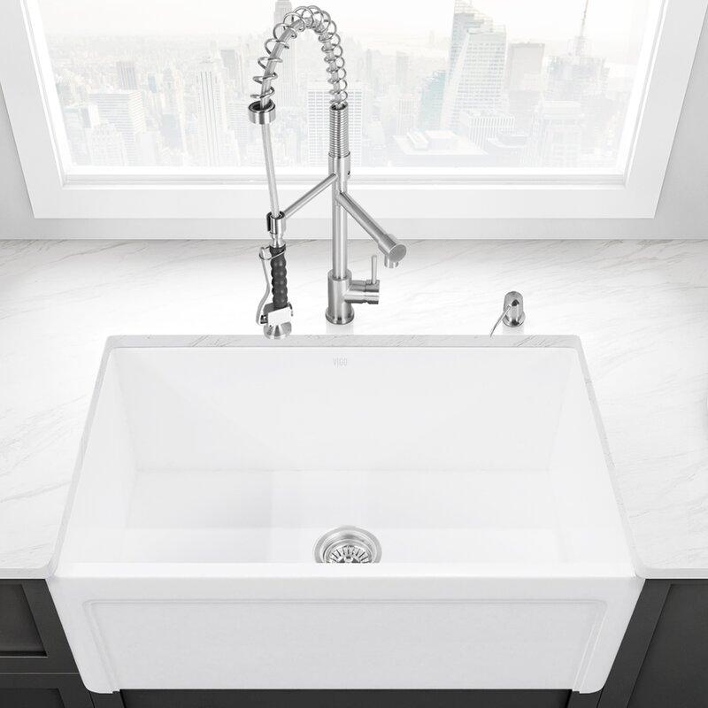 casement front stone 36   x 18   farmhouse kitchen sink vigo casement front stone 36   x 18   farmhouse kitchen sink      rh   wayfair com