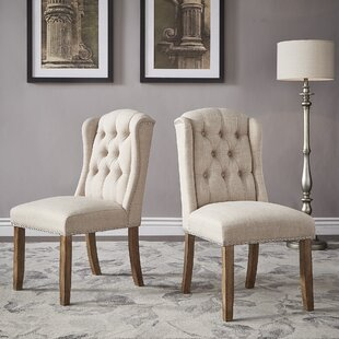 Deja Wing Back Upholstered Dining Chair (Set of 2)