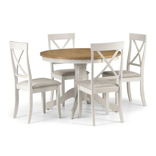 Isabelle Round Dining Set With 4 Chairs