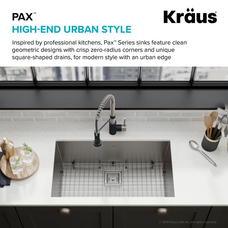 Pax 31 X 18 Undermount Kitchen Sink With Drain Assembly