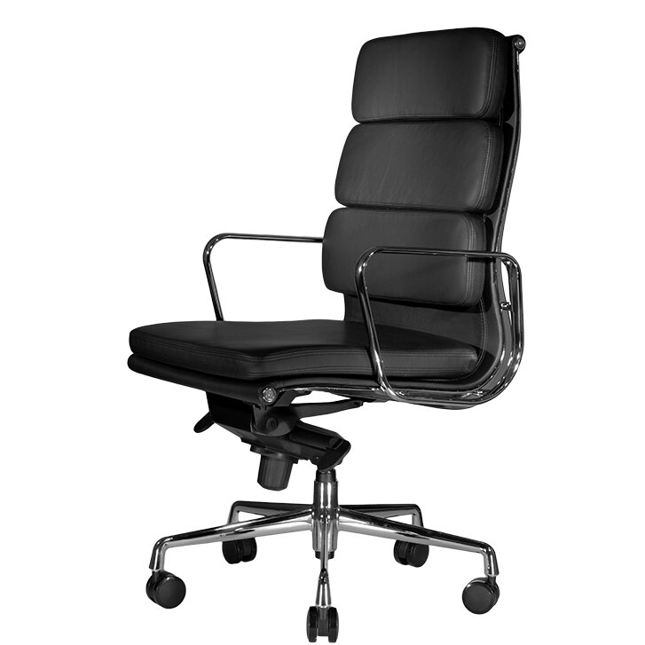 wobi office clyde high-back leather executive chair & reviews