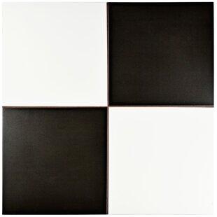 Verifica 1763 X Ceramic Field Tile In Black White