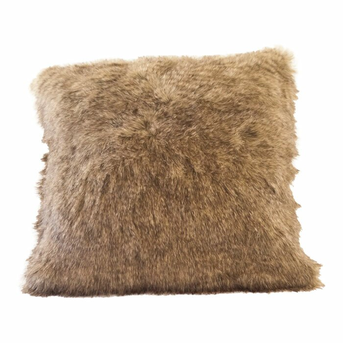 Posh Pelts Raccoon Tail Faux Fur Pillow Cover Reviews Wayfair New Faux Sheepskin Pillow Cover