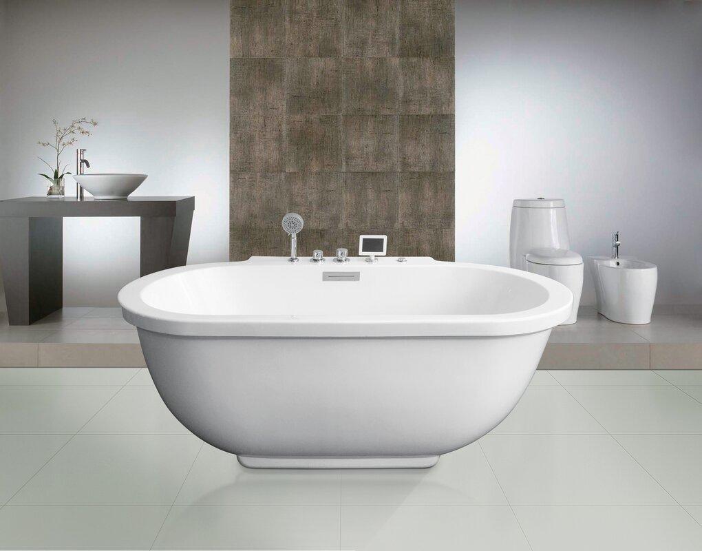 stand alone whirlpool tub. 71  x 37 Whirlpool Bathtub Ariel Bath Reviews Wayfair