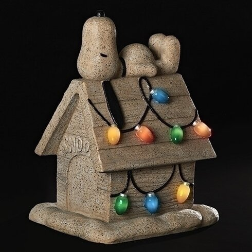 Captivating Snoopy On House Garden Statue