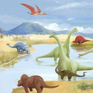 Dinosaur Lake Canvas Art