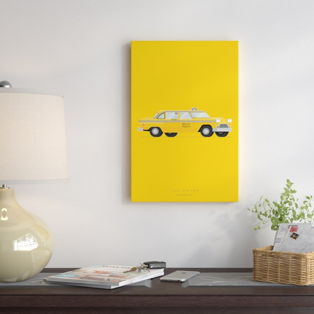 East Urban Home \'Famous Cars Series: Taxi Driver\' Graphic Art Print ...