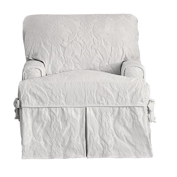 Sure Fit Matelasse Damask T Cushion Armchair Slipcover U0026 Reviews | Wayfair