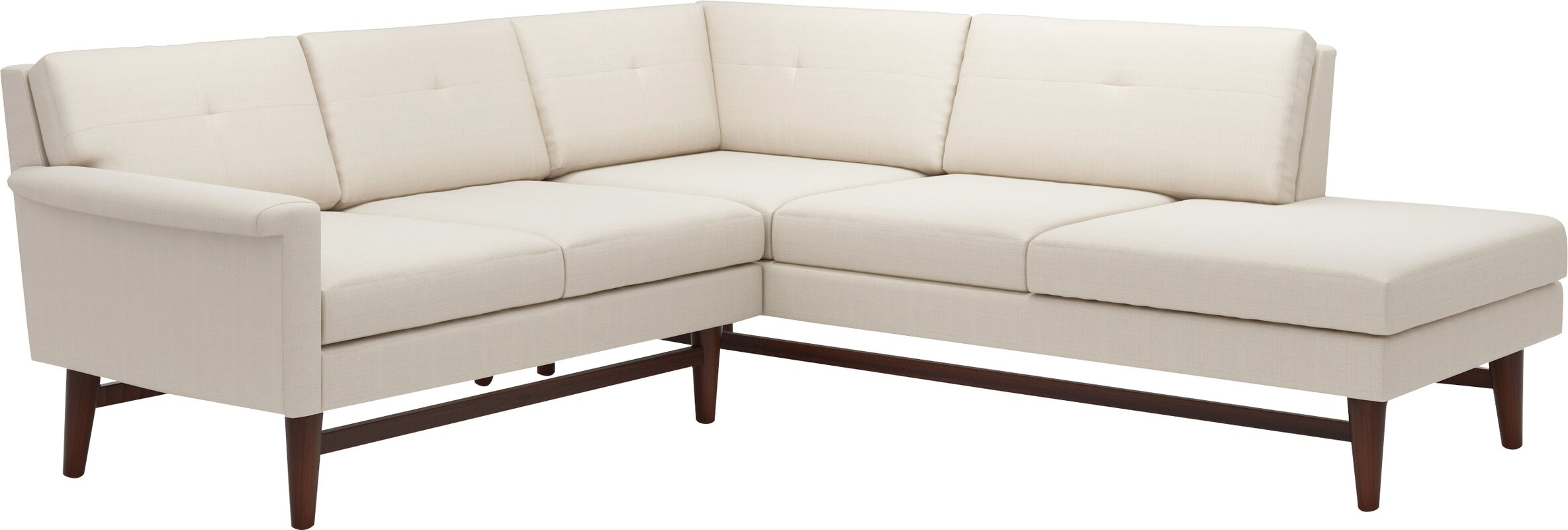Diggity Corner Sectional Sofa With Bumper