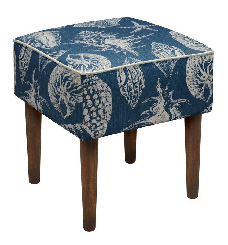 123 Creations Seashells Upholstered Vanity Stool Amp Reviews