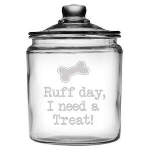 Ruff Day 64 qt. Glass Pet Treat Jar