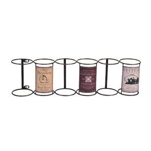 Tracy Vintage 6 Bottle Hanging Wine Rack by Fleur De Lis Living