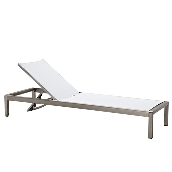 Modern outdoor chaise lounges allmodern for Best outdoor chaise lounges