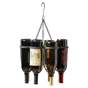 6 Bottle Hanging Wine Rack by Cape Crafts..