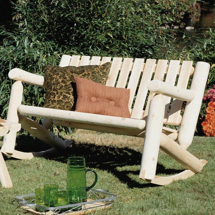 Rustic Cedar Outdoor / Indoor Cedar Rocking Chair Loveseat u0026 Reviews   Wayfair & Rustic Cedar Outdoor / Indoor Cedar Rocking Chair Loveseat u0026 Reviews ...