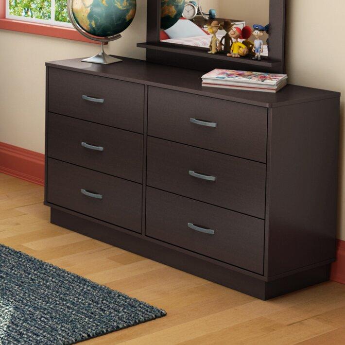 South Shore Logik 4 Piece Pure White Twin Kids Bedroom Set: South Shore Logik 6 Drawer Double Dresser & Reviews
