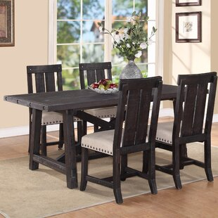 gaudette brown extendable dining table - Dark Dining Room Table