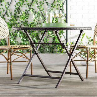 Belton Folding Wicker Rattan Dining Table
