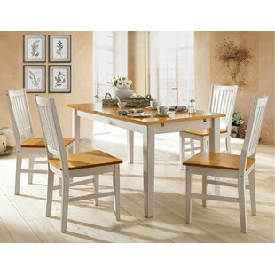 Thong Extendable Dining Set with 4 Chairs by Brambly Cottage