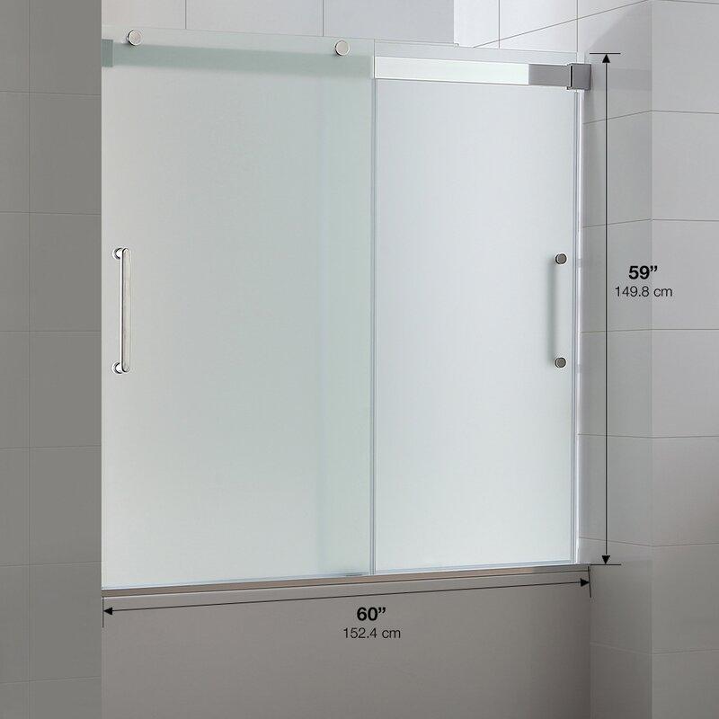 Ove decors beacon 60 x 59 sliding double frosted glass tub door beacon 60 x 59 sliding double frosted glass tub door planetlyrics Gallery