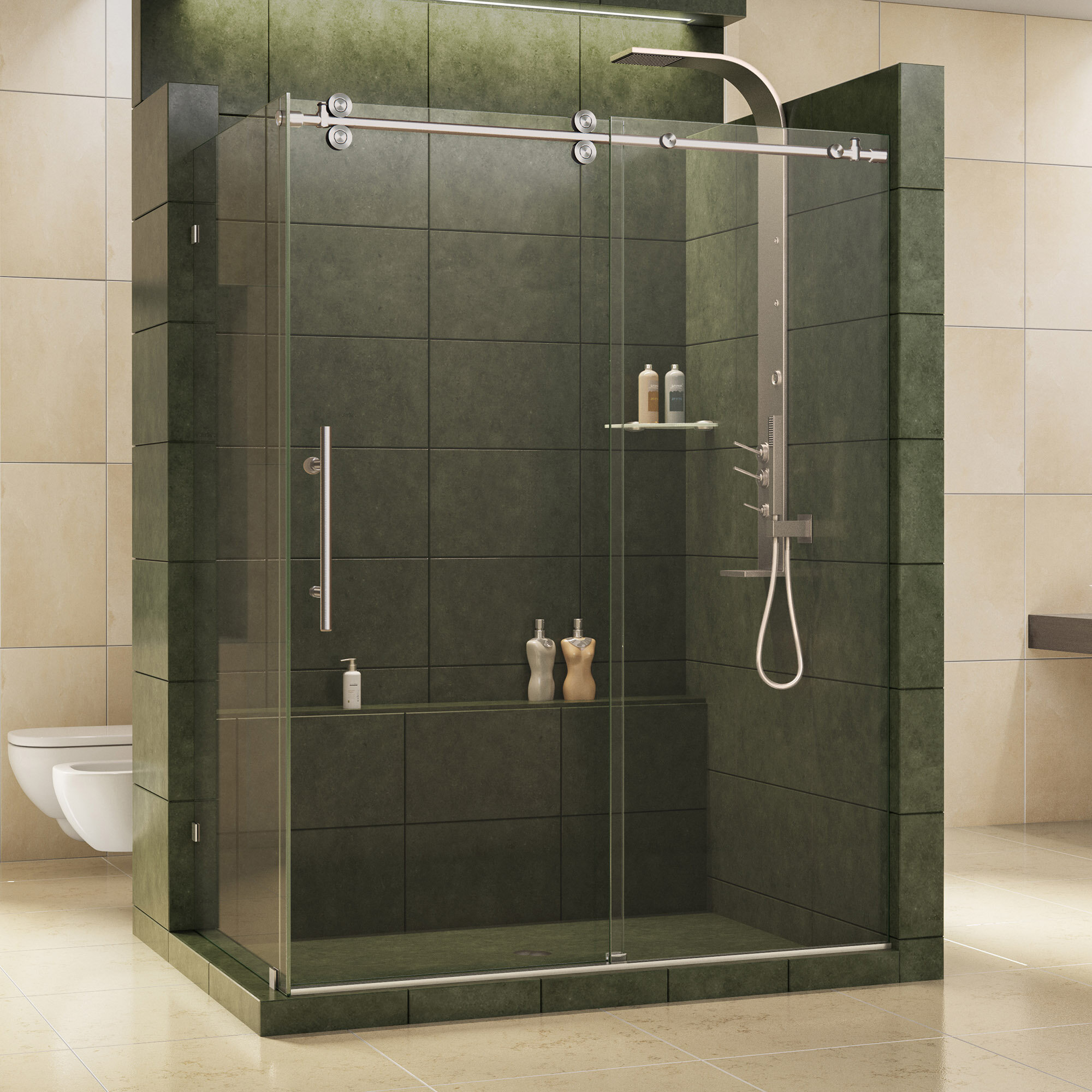 bar door frameless sliding for towel installation enigma reviews of shower doors useful designs
