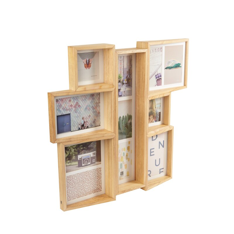 Edge 7 Opening Collage Wall Picture Frame