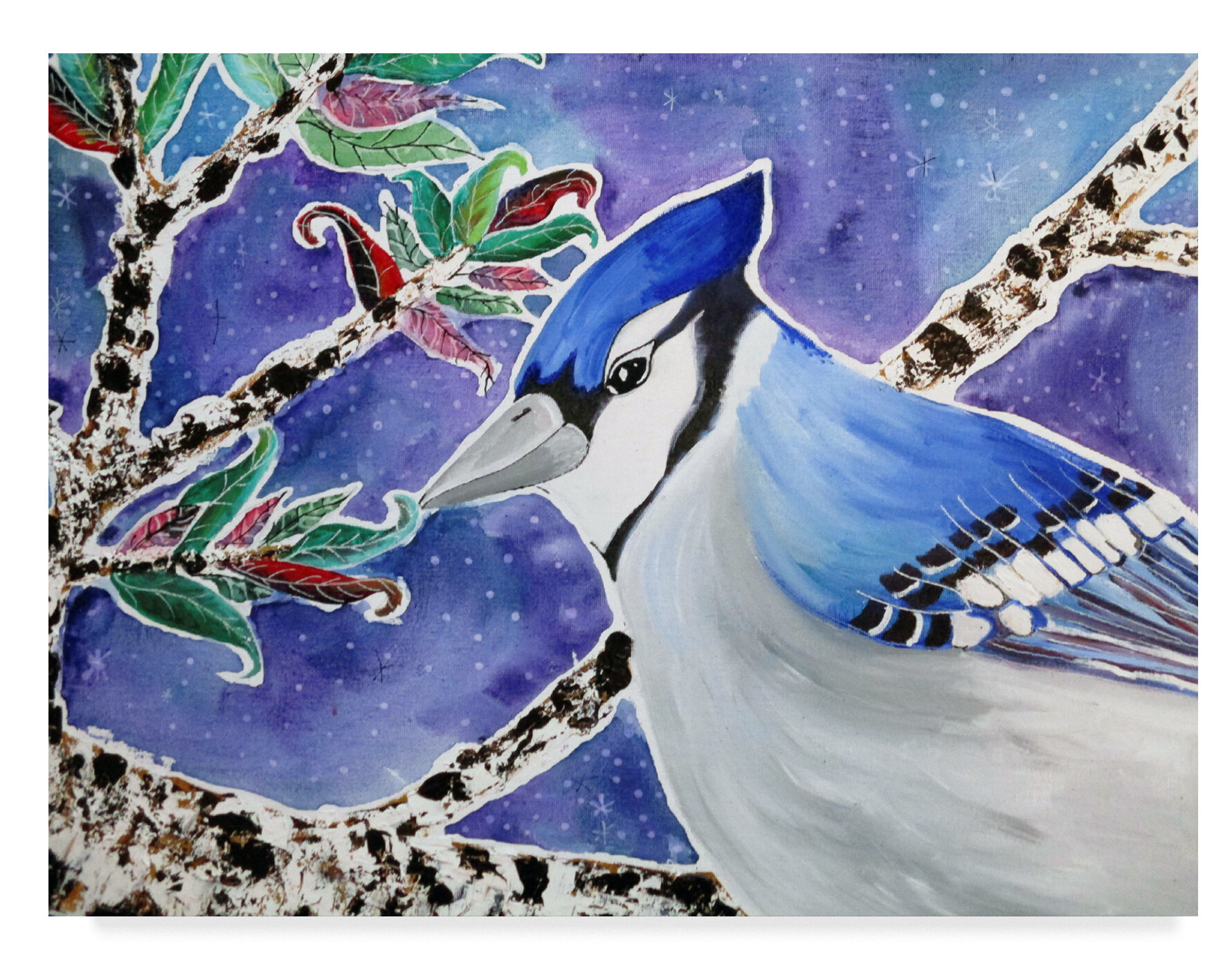 East Urban Home Blue Jay Way Acrylic Painting Print On