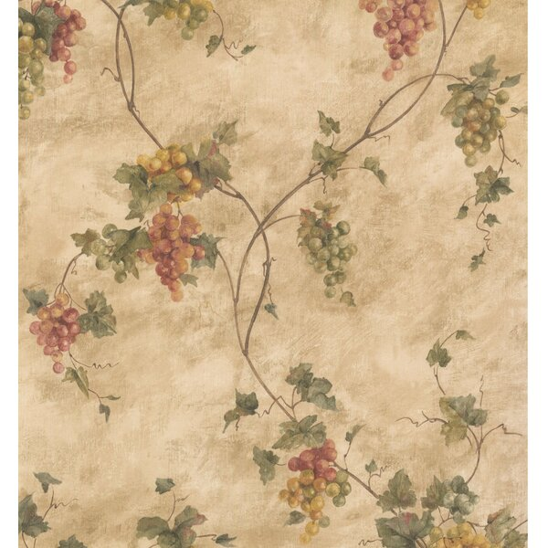York Wallcoverings Floral Prepasted 33\' L x 21\