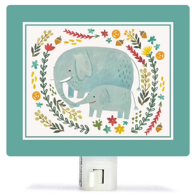 Oopsy Daisy I Carry Your Heart Elephants by Irene Chan Canvas Night ...